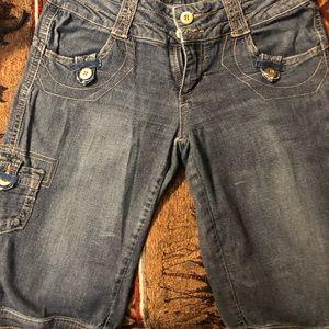Capri jeans shorts